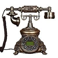 古典的なヨーロッパのレトロな固定電話 家庭用の固定電話、レトロなヴィンテージアンティークの有線固定電話、オフィス装飾