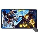 多用途の Mouse Pad Gundam 機動戦士ガンダム カスタマイズ ゲーム専用 コンピューター A2 マウスパッド キーボード用 摩耗に耐える 75X40X0.3Cm