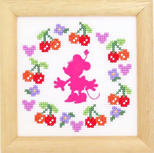 ディズニー クロスステッチ刺繍キット オリムパス フラワーコレクション ミニフレーム ミニーマウス /7370 [