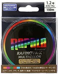 Rapala(ラパラ) PEライン ラピノヴァX マルチカラー 150m 0.6号 13.9lb マルチカラー RXC150M06MC