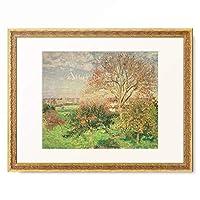 カミーユ・ピサロ Camille Pissarro 「Autumn morning in Eragny. 1897」 額装アート作品