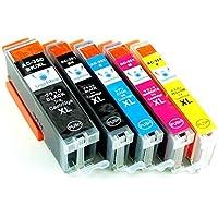 [Angelshop] Canon(キャノン) 互換インクカートリッジ BCI-351XL/350XLBK 5色セット 残量表示機能付 【増量タイプ】