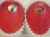 宮崎産完熟マンゴー 赤秀 2玉 ALおよそ650g 化粧箱入り。