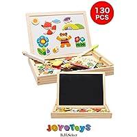 B.H. Select おえかき & マグネット ボード ホワイト ボード 磁石 パズル 黒板 お絵かき 知育 玩具 想像力を育む (JOY@MAGBoard130 ) BH102-1
