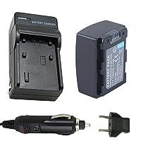 bp105rバッテリーと充電器for Samsung smx-f50、smx-f50sn、smx-f50bn、smx-f50sn / XAA、smx-f50bn / XAAビデオカメラ