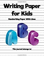 WRITING PAPER FOR KIDS: Handwriting Practise Notebook for kids with Dotted Lined | 120 pages 8.5x11