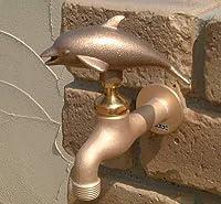 ガーデニング蛇口(イルカ) ガーデン蛇口 水回り フォーセット 散水用品 /寒冷地仕様
