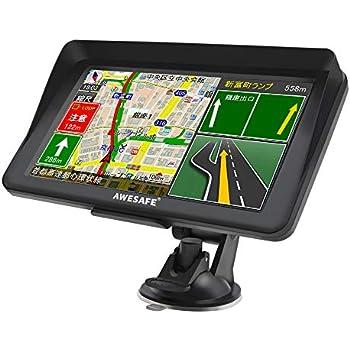 Amazon | ポータブルカーナビ 7インチ液晶タッチパネル 高性能GPS ...