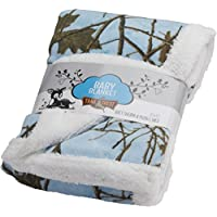 Baby Sky Forest Soft Poly fleece Sherpa Blanket 30 X 42 by TrailCrest