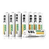 EBL 充電式ニッケル水素電池 単3形16個パック (高容量2800mAh 約1200回使用可能)