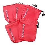 Eco Ride World 巾着 アウトドア ポーチ レッド 5袋セット SO_229
