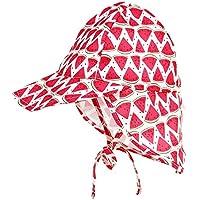 B Blesiya ベビー UVカット 太陽の帽子 ベビー帽子 ベビーキャップ ベビーハット つば広 日焼け防止 通気性ある 軽量 全5色