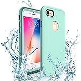 iphone8 ケース ZVE® iPhone7ケース 完全防水ケース IP68 アイフォン7/8通用 4.7インチ 防塵 防雪 耐衝撃カバー 指紋認証対応 海/釣り/お風呂/温泉/水泳など適用 ストラップ付き 新型(ライトグリーン)