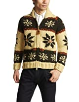 Canadian Sweater Company Snow Zip Cardigan 09CN04: Moss / Olive