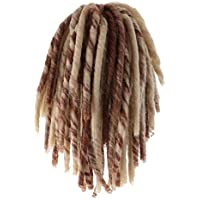 Baosity 人形用 ドールウィッグ かつら 髪 ヘア 18インチ 修理 DIY 交換用 全2色 - ブラウン