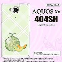 404SH スマホケース AQUOS Xx 404SH カバー アクオス ダブルエックス メロン nk-404sh-658