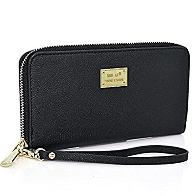 Women Wallet PU Leather Zipper Long Purse Credit Card Clutch Holder Strap Handbag