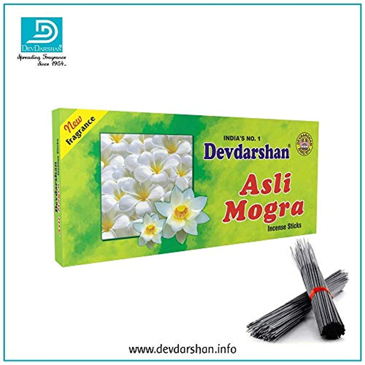 誇張する可動車両Devdarshan Asli Mogra Agarbatti (Pack of 12) 40g Each Unit