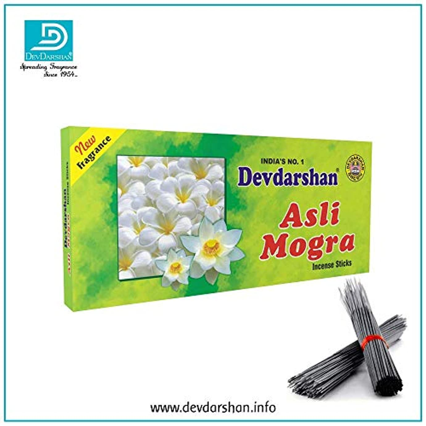 建築家煙突和Devdarshan Asli Mogra Agarbatti (Pack of 12) 40g Each Unit