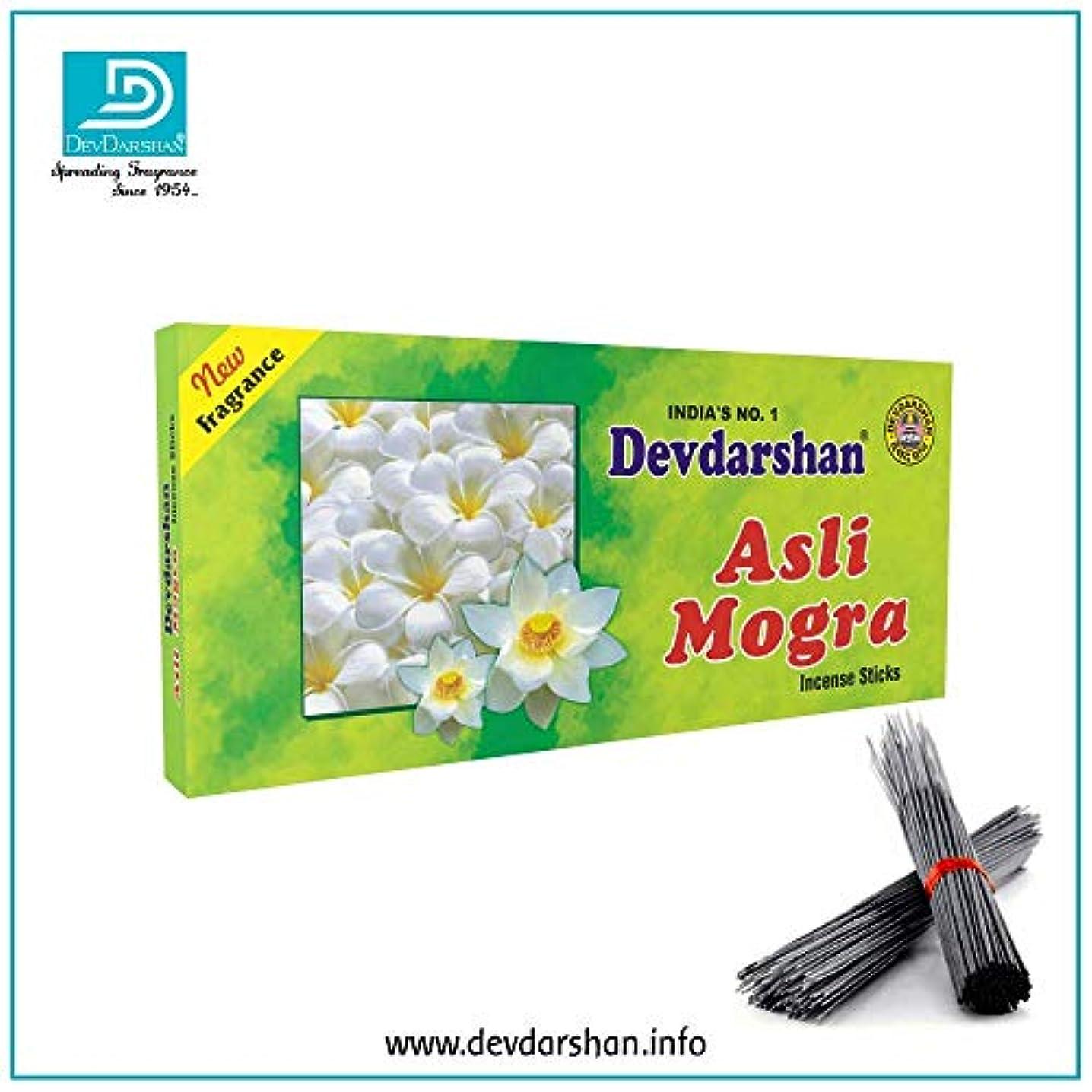 蚊フラップ各Devdarshan Asli Mogra Agarbatti (Pack of 12) 40g Each Unit