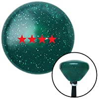 American Shifter 203696 Green Retro Metal Flake Shift Knob with M16 x 1.5 Insert (Red Officer 10 - General) [並行輸入品]