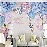 Weaeo 3D写真の壁紙花の壁画のリビングルームのベッドルームのテレビの背景ホームインテリアカスタムサイズの風景自然の壁画キャンバス-120X100Cm