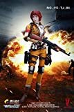 【ベリー・クール / VERYCOOL】 1/6 スケール VC-TJ-04 女性 アクション フィギュア フルセット【ハートK】 Wefire Fourth Bomb:Female Mercenary—Heart King