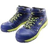 ミズノ 安全靴 (MIZUNO)オールマイティミッドカット C1GA1702 14ネイビー 25.5cm