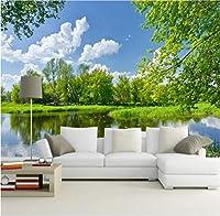 Lcymt カスタム写真壁画壁紙リビングルーム寝室テレビソファ背景装飾壁壁画風景-200X140Cm