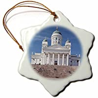 3drose Danita Delimont–大聖堂–フィンランド、ヘルシンキ、tuomiokirko、Lutheran大聖堂–eu08wbi0008–Walter Bibikow–Ornaments 3 inch Snowflake Porcelain Ornament orn_81321_1