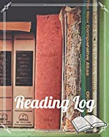 """Reading Log Book - Book Lovers Journal - Track Books Reviews Favorite Notes&Quotes - Large Blank Notebook 8""""x10"""" 100 pages Book 10"""
