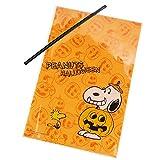 スヌーピー[ラッピング用品]ハロウィン ギフト袋&ワイヤー 10セット/かぼちゃ ピーナッツ