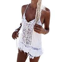 Lisingtool Women Sleeveless Lace Chiffon Summer T-Shirt Blouse Vest Casual Tank Tops