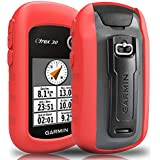 TUSITA Case with Screen Protector for Garmin eTrex 10 20 20X 30 30X - Silicone Protective Cover Skin - Handheld GPS Navigator Accessories (Red)