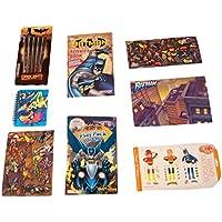 DC Comics BatmanアクティビティGiftセット~ Bat時間(カラーリングブックwithステッカー、スティックペン、再生パック、Lenticularジャーナル、手Tattoos、ノートブックとステッカー、マグネット、7アイテム,パンチ1バンドル)