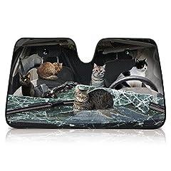 RELAX リラックス サンシェード 車 日除け 紫外線対策 CATS ネコ 猫集会 RCSS-006