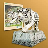 Papertoy - Solid model white tigers