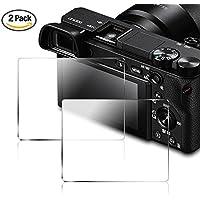 Sony a NEX-7 / a NEX-6 / a NEX-5 / a6000 / a6300 / a5000 用 ガラスフィルム AFUNTA 保護フィルム 液晶保護フィルム スクリーンプロテクター 2枚入り
