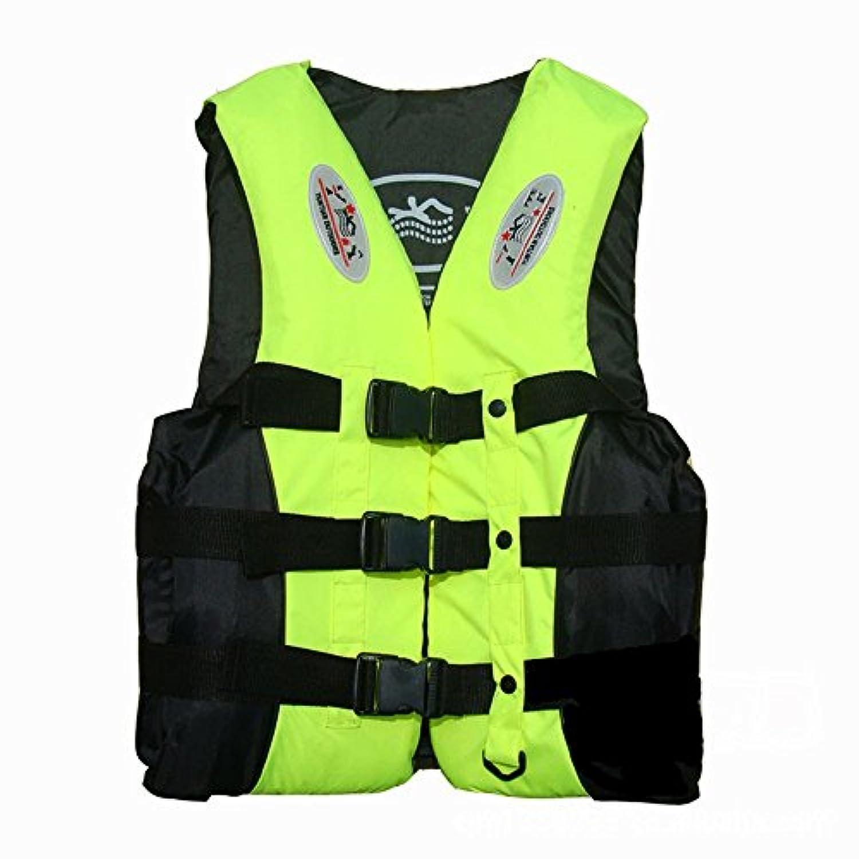 Cityクラシック蛍光グリーンLifejacket for Boating水アクティビティS