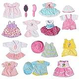お人形遊び 着せ替え服 ドレス ワンピースセット 12着 14~16インチのお人形に適する