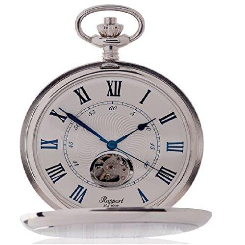 [ラポート]RAPPORT 懐中時計 機械式手巻き ダブルハンターケース オープンハート PW99 【正規輸入品】