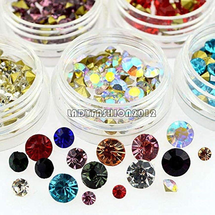 バングラデシュオーバーヘッド新年FidgetGear 12カラーミックスサイズグリッターVボトムダイヤモンドアクリルネイルアートラインストーンデカール