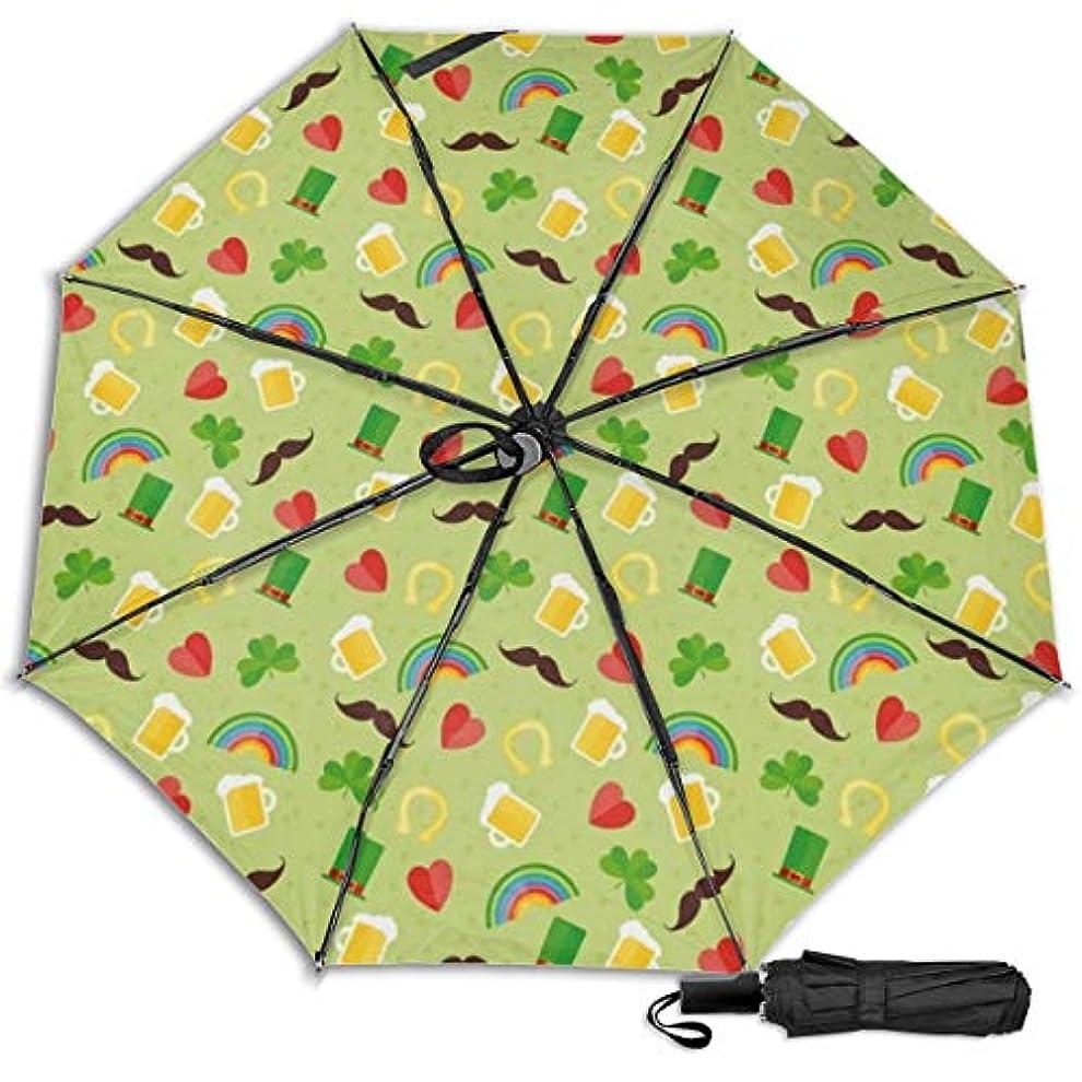 資本主義ミル祈りセントパトリックデーのかわいいブーツ日傘 折りたたみ日傘 折り畳み日傘 超軽量 遮光率100% UVカット率99.9% UPF50+ 紫外線対策 遮熱効果 晴雨兼用 携帯便利 耐風撥水 手動 男女兼用