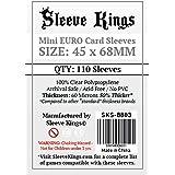 Sleeve Kings ミニユーロカードスリーブ (45x68mm) 110枚パック 60ミクロン