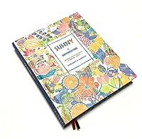 【Angelicate】毎日が楽しくなる イラスト付き 日記帳 フラワー モチーフ A5 しおり付 (SUNNY スカイブルー)