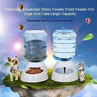 犬と猫のための自動ディスペンサー給水フィーダーフィーダー大容量、白