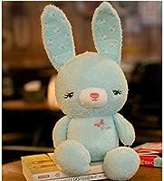 HuaQingPiJu-JP キッズ20cmふわふわソフトウサギぬいぐるみウサギぬいぐるみウサギ赤ちゃんキッズ幼児ギフト(緑)