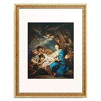 Loo, Charles Andre van,1705-1765 「Adoration of the Shepherds.」 額装アート作品