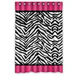 Pink Zebra Print &ストライプラインデザインバスルームシャワーカーテンシャワーリングIncluded–Best Visual Enjoyment For You 48x72 sxddodfsfd24