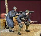 ディーデイミニチュアズ 1/35 第二次世界大戦 ブラックデビルズ オランダ軍 ルイス軽機関銃射撃チーム 1940 レジンキット DD35153